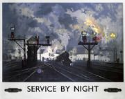 Service by Night, British Railways Travel Poster Art Print